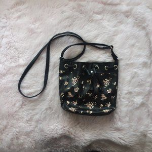 NEW Small Floral Drawstring Crossbody Bag
